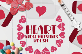 Heart Nurse Valentine's Day Graphic Illustrations By Firefly Designs