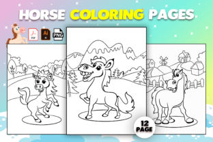 Print on Demand: Horse Coloring Pages for Kids Graphic Coloring Pages & Books Kids By Cute Coloring