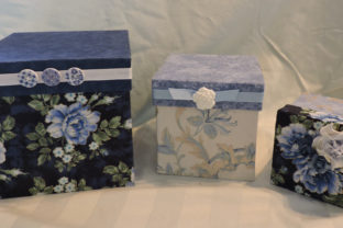 How to Make Fabric Covered Boxes