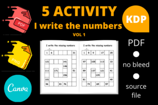 Print on Demand: I Write the Missing Numbers Volume 1 Graphic KDP Interiors By Dunkyshot