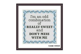 Print on Demand: I'm an Odd Funny Sarcastic Cross Stitch Graphic Cross Stitch Patterns By Tango Stitch