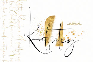 Print on Demand: Kafutey Script & Handwritten Font By SiwoxS
