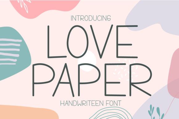 Print on Demand: Love Paper Display Font By OKEVECTOR