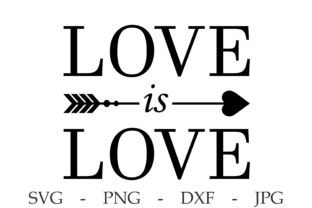 Print on Demand: Love is Love T-shirt Print Svg. Love Svg Graphic Print Templates By CuteShopClipArt