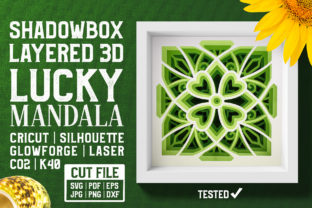 Lucky Mandala 3D Layered SVG Cut File Graphic Crafts By pixaroma