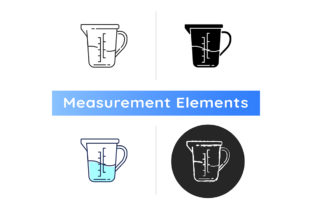 Print on Demand: Measuring Cup Icon Graphic Icons By bsd studio