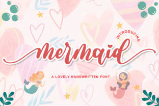 Print on Demand: Mermaid Script & Handwritten Font By Letterfand.Studio