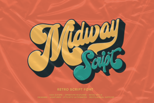 Print on Demand: Midway Display Font By bluetype