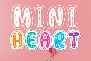Print on Demand: Mini Heart Decorative Font By BB Digital Arts