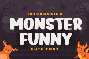 Print on Demand: Monster Funny Display Font By OKEVECTOR