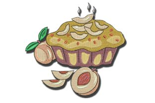 Peach Pie Food & Dining Embroidery Design By BabyNucci Embroidery Designs