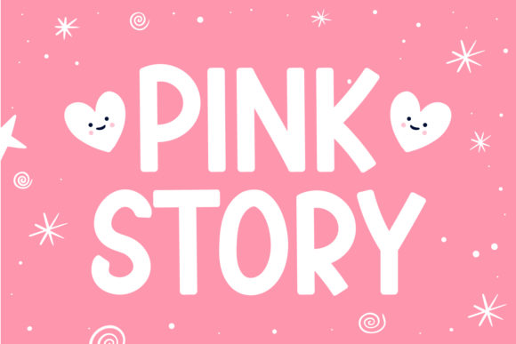 Print on Demand: Pink Story Display Font By OKEVECTOR