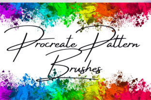 Print on Demand: Procreate Pattern Brush Set 9 Brushes Graphic Brushes By Daughters inspired designs