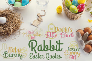 Rabbit Easter Quotes Graphic Crafts By Firefly Designs
