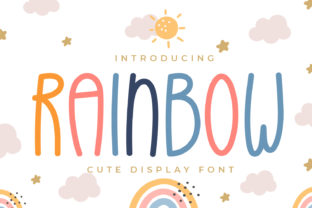 Print on Demand: Rainbow Display Font By OKEVECTOR