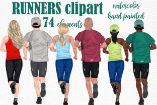 Print on Demand: Runners Clipart Marathon Clipart Sport Graphic Illustrations By LeCoqDesign
