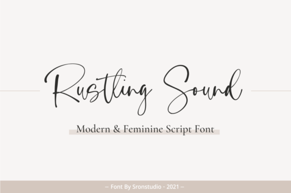 Print on Demand: Rustling Sound Script & Handwritten Font By Sronstudio
