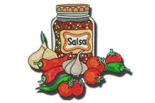 Salsa Food & Dining Embroidery Design By BabyNucci Embroidery Designs