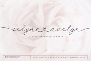 Print on Demand: Selyna Avelyn Script & Handwritten Font By Balpirick
