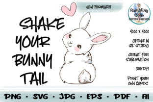 Print on Demand: Shake Your Bunny Tail for Easter Graphic Illustrations By RamblingBoho