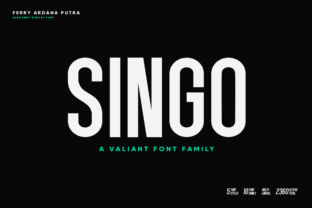 Print on Demand: Singo Sans Serif Font By bluetype