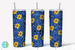 Skinny Tumbler Sublimation Yellow Flower Graphic Illustrations By Enliven Designs