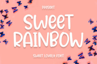 Print on Demand: Sweet Rainbow Display Font By Pink_Pink