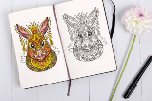 Tangled Head of Hare Coloring for Adult Graphic Coloring Pages & Books Adults By Alinart 2