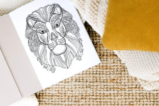 Tangled Head of Lion Coloring for Adult Graphic Coloring Pages & Books Adults By Alinart 2