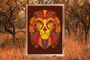 Tangled Head of Lion Coloring for Adult Graphic Coloring Pages & Books Adults By Alinart 3