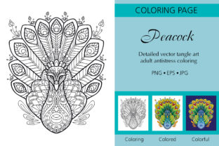Tangled Peacock Coloring for Adult Graphic Coloring Pages & Books Adults By Alinart