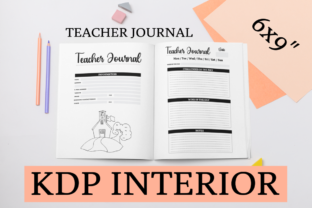 Print on Demand: Teacher Journal | KDP Interior Graphic KDP Interiors By KDP Mastermind