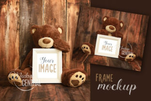 Teddy Bear Nursery Frame Mockup Graphic Product Mockups By Mockup Central