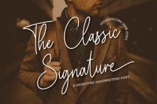 Print on Demand: The Classic Signature Script & Handwritten Font By RockboyStudio