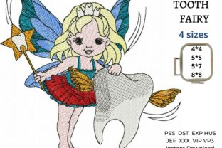 Tooth Fairy Fairy Tales Embroidery Design By EmbDesigns