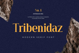 Print on Demand: Tribenidaz Serif Font By uicreativenet