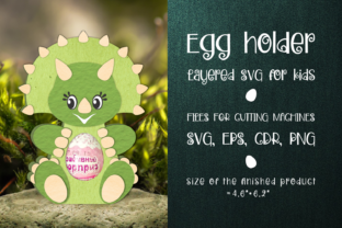 Print on Demand: Triceratops - Chocolate Egg Holder SVG Graphic 3D SVG By Olga Belova