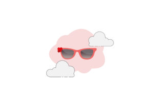 Valentine Glasses Cloud Icon Graphic Icons By raysaozora
