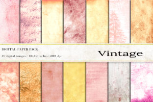 Vintage Digital Papers Graphic Backgrounds By BonaDesigns