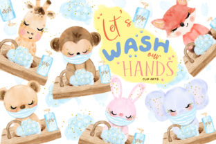 Wash Our Hands Clip Art Graphic Illustrations By Hippogifts