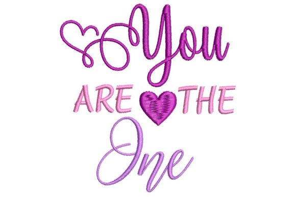 You Are the One Valentine's Day Embroidery Design By BabyNucci Embroidery Designs