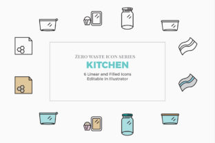 Print on Demand: Zero Waste Kitchen Icons Graphic Icons By claudia.cotici