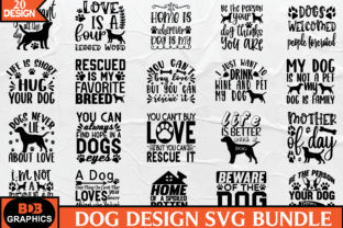 Print on Demand: Dog SVG Bundle Graphic Crafts By BDB_Graphics