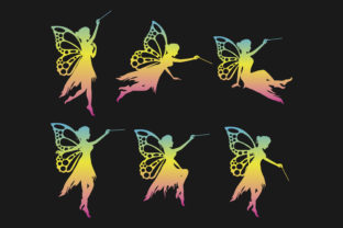 Print on Demand: Fairy Silhouette Collection Graphic Illustrations By curutdesign