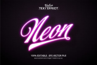 Print on Demand: Neon Style Editable Text Effect Graphic Layer Styles By Mustafa Bekşen