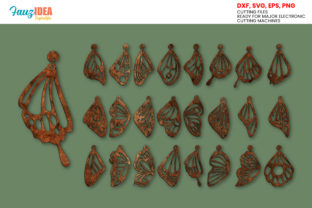 Print on Demand: 24 Butterfly Wing Earrings Templates Graphic Crafts By FauzIDEAStudio