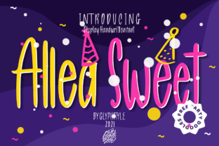 Print on Demand: Allea Sweet Display Font By glyphstyle