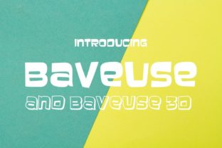 Print on Demand: Baveuse Decorative Font By Typodermic