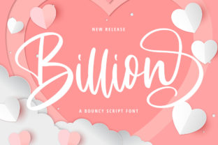 Print on Demand: Billion Script & Handwritten Font By Fallengraphic