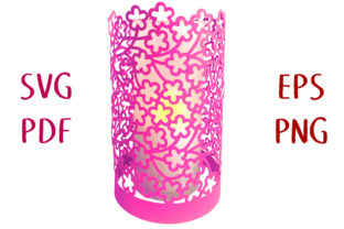 Blossom Flower Lantern SVG Cut File Graphic 3D SVG By Nic Squirrell